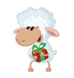 lamb and gift vector image