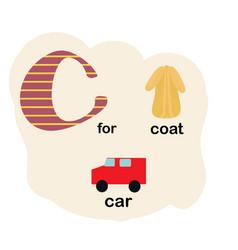 letter c for children alphabet vector image