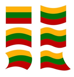 Lithuania flag Set of flags of Republic of vector image