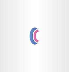 logotype letter c logo sign c vector image