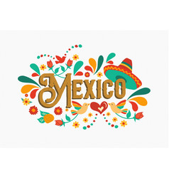 mexico quote greeting card for mexican holiday vector image