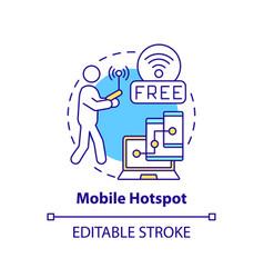 Mobile hotspot concept icon vector