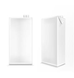 Mockup white carton box for milk or juice vector