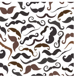 mustaches retro seamless pattern vector image