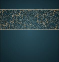 Nautical background ribbon vector image
