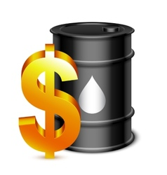 Oil Barrel and Dollar Sign vector image