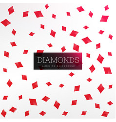 playing card diamond shapes background vector image