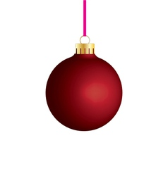 red bauble vector image