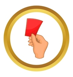 Red card football icon vector