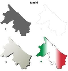 Rimini blank detailed outline map set vector image