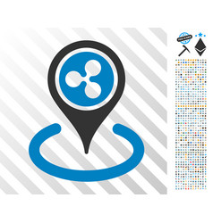 Ripple placement flat icon with bonus vector