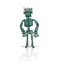 Robot character isolated on white vector image
