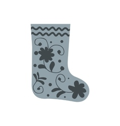 Russian traditional winter felt boots icon vector