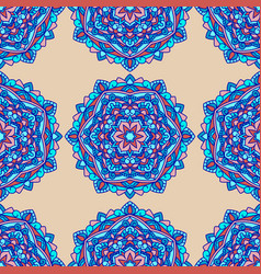 seamless patternbeautiful unusual flowers vector image
