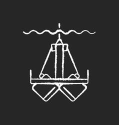 sediment sampling chalk white icon on black vector image