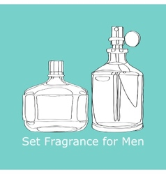 Set Fragrance for Men vector image