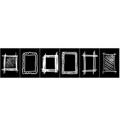 set monochrome frame for design vector image