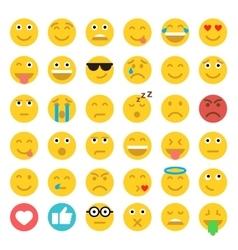 Set of Emoticons Set of Emoji Flat style vector