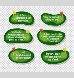 set of funny quotes about golf vector image