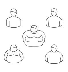 shape classification of obesity level vector image