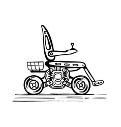 Sketch a mobile scooter vector