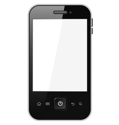 Smart phone with blank screen vector image