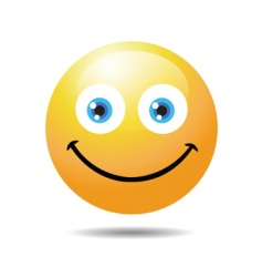 smile icon vector image