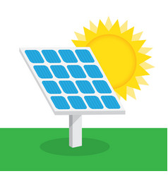 solar battery icon vector image