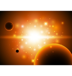 Space background with stars vector image