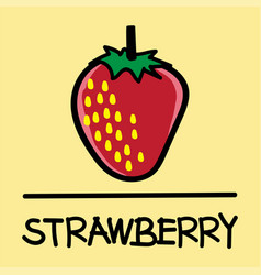 Strawberry hand-drawn style vector