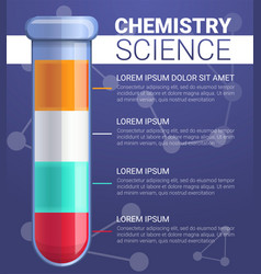 structure of test tube substance concept vector image