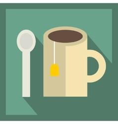 Tea cup icon vector