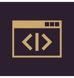 The coding icon WWW and browser development seo vector