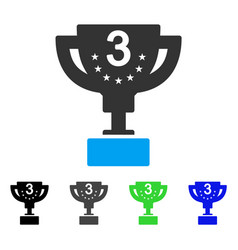 Third prize cup flat icon vector