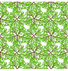 top view tree seamless pattern - nature seamless vector image