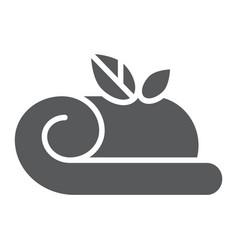 towel glyph icon hotel and bath spa towel sign vector image