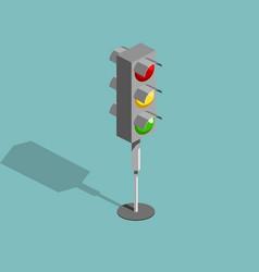 traffic light isometric vector image