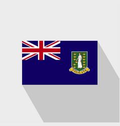 Virgin islands uk flag long shadow design vector