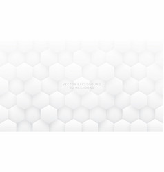 white abstract background 3d hexagons vector image