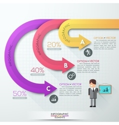 White arrows Elements of infographics vector image