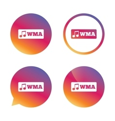 Wma music format sign icon Musical symbol vector image vector image