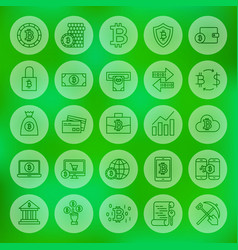 line web bitcoin icons vector image vector image