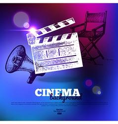 Movie cinema poster vector image vector image
