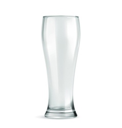 Traditional beer glass empty isolated on w vector image
