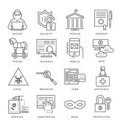 digital black internet security vector image vector image