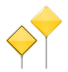 Empty Warning sign vector image