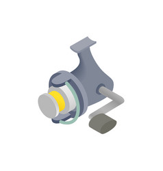 Fishing reel isometric 3d icon vector image vector image
