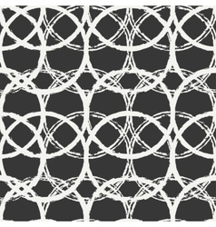 Hand drawn seamless pattern with black grunge vector image vector image