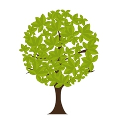 icon tree recycle environment isolated vector image