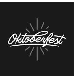 Oktoberfest beer festival typography emblem vector image